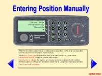 Manual input of position for VHF DSC radio in case of GPS signal failure.