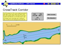 Using GPS cross-track corridor to avoid hazards.