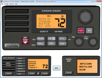 Routine alert demonstrated by Radio Simulator in the VHF DSC TutorPlus package.